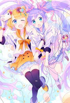 Immagine di kawaii, cute, and anime girl Vocaloid, Anime Best Friends, Kawaii, Anime Friendship, Anime, Hatsune Miku, Anime Characters, Anime Artwork, Anime Drawings