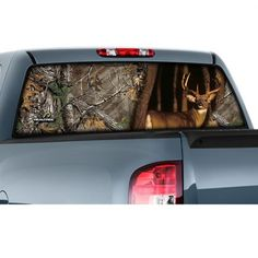 DESERTED S PICKUP TRUCK Rear Window Graphic Rear Window - Rear window hunting decals for trucksamazoncom truck suv whitetail deer hunting rear window graphic