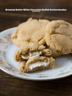 Snickerdoodles were my favorite as a kid, but Then these browned butter snickerdoodles stuffed with white chocolate, BEST. COOKies ever! ohsweetbasil.com