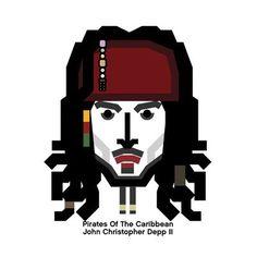 #johnny #depp #design #character #movie #face #icon #jack #sparrow #caribbean #캐리비안 #해적 #조니댑