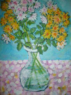 Blumenbilder-weiss-gelb