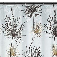 Dandelion fabric shower curtain, by Target. Source: Target.  [dandelion, Taraxacum, Asteraceae]