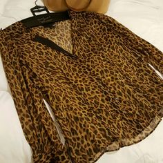 ** J. Crew 100% Silk Sheer Blouse Leopard print, very lightweight silk. Excellent condition J. Crew Tops Blouses