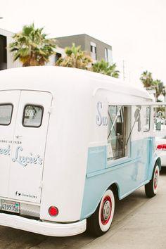 Sweet Lucie's vintage ice cream truck | Rebecca Fishman | 100 Layer Cakelet