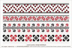 Semne Cusute: romanian traditional motifs - MOLDOVA - Iasi - sat: Lungani Cross Stitch Borders, Cross Stitch Patterns, Beading Patterns, Embroidery Patterns, Moldova, Hama Beads, Pixel Art, Projects To Try, Homemade