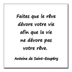 Magnetquotation Antoine de Saint Exupery | The Little Prince | ~$6.65 - Make your dream devour your life so that life does not devour your dream.