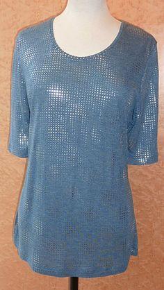 Blue designer top from the Basler Popup range.