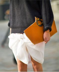 street knotted #skirt and oversized knit... | Sumally
