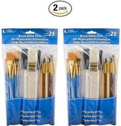 Paint Brushes Office & School Supplies Sensible 5 Pcs Multifunctional Mixed Head Deep Blue Wood Pole Nylon Hair Brush Set Art Oil Brush Matter For Painting Artist Brushes Exquisite Craftsmanship;
