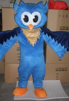 Professional New Style Blue Owl Mascot Costume Adult SIZE #Handmade #CompleteCostume