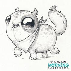 Bandana Cat is ready! 🐱 #morningscribbles