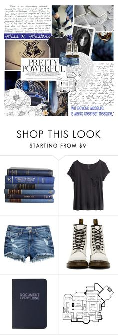 """""""~Hogwarts Letter~"""" by spellbooks-and-wands-xo ❤ liked on Polyvore featuring H&M, Fujifilm, Dr. Martens, pandawrites and LaPandaCouture"""
