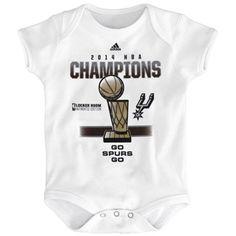 aa8616f6708 San Antonio Spurs adidas Infant 2014 NBA Finals Champions Locker Room State  of A Champ Creeper - White