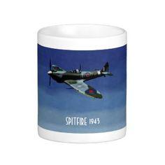 AviArtPrints: Spitfire Mug Original Artwork, Aircraft, Mugs, Aviation, Tumblers, Planes, Mug, Airplane, Airplanes