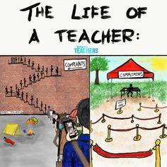 Sad reality. Teacher Comics, Teacher Memes, Teacher Stuff, Teacher Toolkit, Student Teacher, Dear Parents, Parents As Teachers, Videos Funny, Funny Memes
