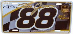 Dale Jarrett Nascar Driver #88 License Plate by RacingGifts. $14.50. Dale Jarrett #88 Metal License Plate.Made of high grade aluminum, and patented printing process that will last for years to come. Features team colors and graphics, show off your racing driver support!