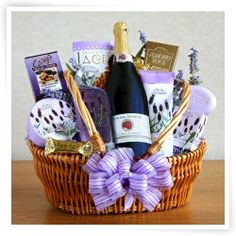 gift baskets for moms   get wine, wine glasses, chocolates,soaps,lotion,bath items,perfume,i love you mom card, and other things your mom likes