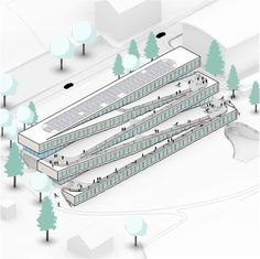 Image 15 of 16 from gallery of BIG Unveils Images of Zig-Zag Ski Hotel in Switzerland. Courtesy of BIG-Bjarke Ingels Group Architecture Graphics, Architecture Drawings, Architecture Design, Bjarke Ingels Architecture, Big Architects, Switzerland Hotels, Concept Diagram, Sustainable Architecture, Zig Zag