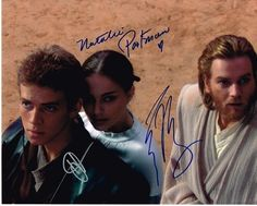 Star Wars (Episode II - Attack of the Clones) Authentic Cast Signed 8x10 Autograph Photo - Hayden Christensen, Natalie Portman, Ewan McGregor - All orders are shipped within 48 hours. Free domestic shipping. Lifetime guarantee under the terms of our return policy. This signed item would make an excellent and unique gift. Star Wars Episode II: Attack of the Clones is a 2002 American epic space opera film directed by George Lucas. It is the fifth film to be released in the Star Wars saga and…