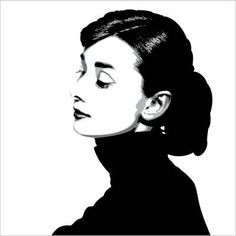 """Painting of Audrey Hepburn in the 1957 classic, Funny Face. The artwork is 48""""x48"""", acrylic on wood."""