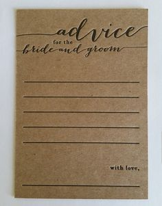 advice for the bride and groom letterpress by halfpintinkstudio