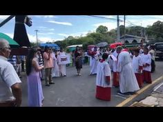 SEMANA SANTA - Holy Week Procession in Quepos, Costa Rica. The Catholic Church in each town organizes traditional masses and processions which take place on . Holy Wednesday, Quepos, Jesus Resurrection, Eucharist, Holy Week, Easter Celebration, Days Of The Year, Good Friday, Communion
