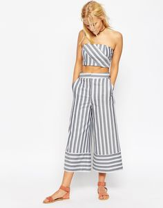 Co-ord stripes culottes