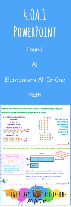 oa1 powerpoint understand that a multiplication equation as a comparison