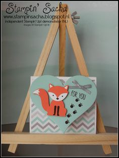 Stampin' Sacha - Stampin' Up! - Annual Catalogue 2016-2017 - Foxy Friends - Sweet & Sassy Framelits Dies - A Little Foxy DSP - Calypso Coral - Pool Party - Smokey Slate - Fun Fold Card - #stampin_sacha - #stampinup