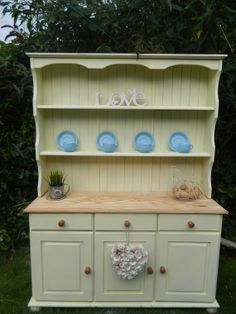 Shabby solid pine welsh dresser painted by shabpoppymay on Etsy, £385.00