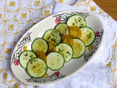 Zucchini & Yellow Cherry Tomato Salad with Chives and Garlic Avocado Oil