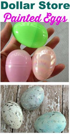 Chalk Paint Easter Eggs- transform cheap Dollar Store Eggs into natural beauties!