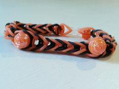 Pretty orange roses bracelet-Free Bonus bracelet your choice colors