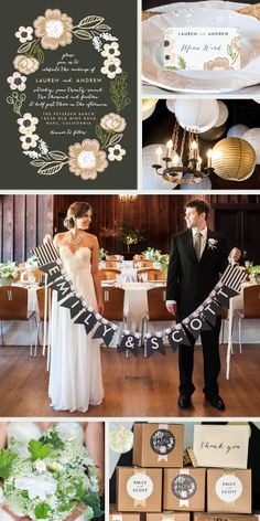 Fully customizable wedding stationery suites from Minted.com
