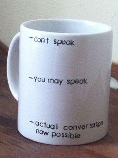 Don't speak coffee addict mug by ChantillyStay on Etsy