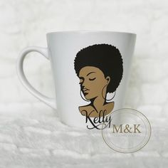 f6f51932ba7 Afrocentric Mug, Black Woman, Black Men, Coffee, Tea, Gift Idea, Custom Mug,  Personalized Mug, Customized with name
