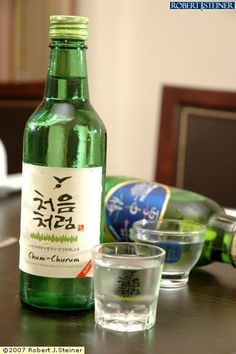 i love this one : CHUM CHURUM (soju) 1 bottle really got me drunk! 부드러운 처음처럼 좋아요*^^*