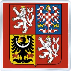 Coat of arms of the Czech Republic. The coat of arms of the Czech Republic displays the three historical regions—the Czech lands—which make up the nation. The current coat of arms, which was adopted in was designed by Czech heraldist Jiří Louda. Prague, Templer, Heart Of Europe, Car Bumper Stickers, Window Stickers, Family Crest, Central Europe, Coat Of Arms, Czech Republic