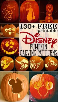 Disney pumpkin stenc