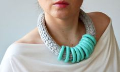 Chunky handmade jewelry for winter.