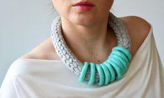 Chunky handmade jewelry for winter.