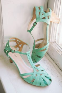 Mint Shoes   Tory Williams Photography   Style Me Pretty