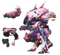 Va & MEKA Concept Art' in our Overwatch art gallery featuring official character designs, concept art, and promo pictures. Female Character Design, Character Concept, Character Art, Robot Concept Art, Game Concept Art, Dva Mech, Star Painting, Anime Furry, Video Game Art