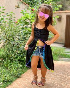 Cute Little Girls Outfits, Dresses Kids Girl, Toddler Outfits, Kids Outfits, Girl Skirts, Cotton Frocks For Kids, Diy Maxi Skirt, Girls Knitted Dress, Baby Dress Design