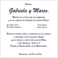 Frases De Invitaciones De Boda | TEXTO PARA INVITACIONES - Imagui