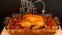 Roast Chicken with Butternut Squash and Apples from Half Your Plate Ambassador Chef Michael Smith Roast Chicken Recipes, Turkey Recipes, Meat Recipes, Fall Recipes, Cooking Recipes, Healthy Recipes, Turkey Dishes, Chicken Meals, Healthy Meals