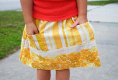 While They Snooze: Citrus Pillowcase Skirt