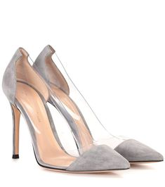 6bd73571570  gianvitorossi  shoes  pumps Suede Leather Shoes