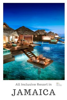 Experience a luxury vacation at an Adult Only All Inclusive Resort located in the Caribbean. Over the water bungalows, o Honeymoon Destinations All Inclusive, All Inclusive Hawaii, Cheap Honeymoon, Affordable Honeymoon, Jamaica Vacation, Vacation Spots, Honeymoon Ideas, Honeymoon Island, Holiday Destinations
