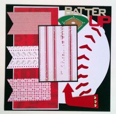 Batter Up  Baseball  Sports  Boys  premade by ohioscrapper on Etsy, $15.00